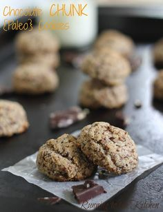 These grain free, paleo chocolate chip cookies are easy to make and taste just like the real deal!
