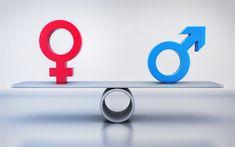 Download wallpapers men and women, libra, equality, concept, 4k, women, men