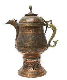 A kashmir copper samovar, century,. Lost Paradise, Srinagar, Brass Handles, Urdu Poetry, 19th Century, Pear, Tea Pots, Copper, Inspire
