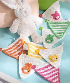 Baby's Place Banner Crochet Pattern | Red Heart #crochet #pattern
