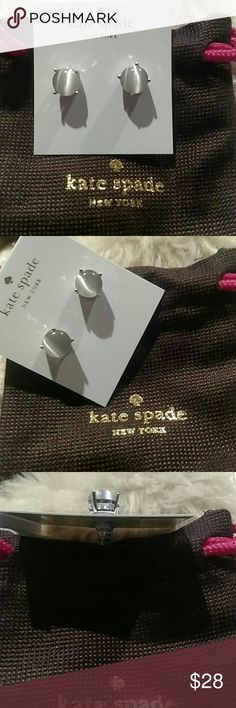 "Kate Spade New York Grey Gumdrop Silver Studs Authentic Kate Spade New York Grey Gumdrop Studs In Silver! Inspired By A Sweet Tooth And All Things That Sparkle. Crafted Of Dazzling Stones In Confectionery Colors And Placing It In A Silver Setting. They Make A Super Sweet Finishing Touch. Comes In A Kate Spade Pouch.  Size Is 4"" X 4.5"" X 0.5"". 5/8"". Fast Shipping! kate spade Jewelry Earrings"