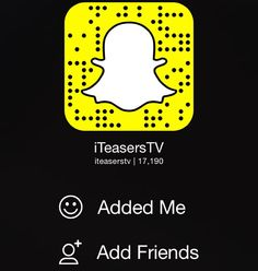 Add us on Snapchat : iTeasersTV  - Girls Daily! - Comment Your Snapchats Below!  by iteasers