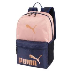 Puma Backpack Peach/Navy MultiColored - Puma Backpack - Ideas of Puma Backpack - Puma Backpack Peach/Navy Cute Backpacks For School, Stylish Backpacks, Cool Backpacks, College Backpacks, Backpack Bags, Fashion Backpack, Luggage Deals, Rose Gold, Adidas