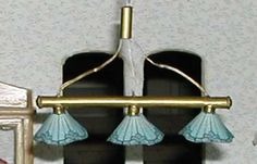 oneluckybug.com - Miniatures - 1 inch scale Pool Table - overhead pool table lights more a what used than a tutorial