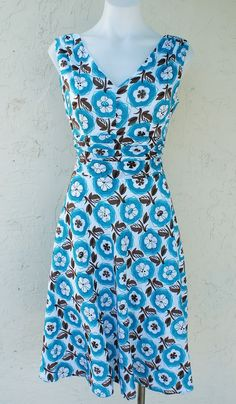DAISIES & PINWHEELS Retro 50s 60s Pinup Floral Day Frock Sun Dress