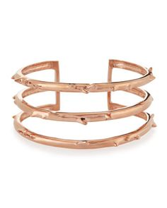 Rose+Gold+Vermeil+Trinity+Thorn+Cuff+by+Katie+Design+Jewelry+at+Neiman+Marcus.
