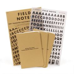 Field Notes Dry Transfer Limited Edition from the Walker Shop; <3 rub on transfers!