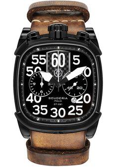 CT Scuderia Scrambler Black Tan NATO Watch (CS70105N)