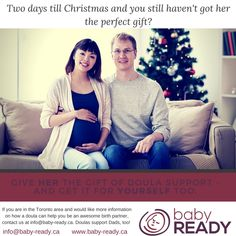 Last minute gift idea for expectant parents! Give the gift of doula support and learn how a doula can help you become the birth partner you want to be. Doulas support Dads, too! Birth Partner, Doula Services, Days Till Christmas, Preparing For Baby, Baby Birth, Last Minute Gifts, Parents, Dads, How To Get