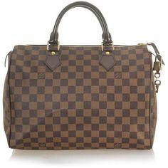 Louis Vuitton Damier Canvas Speedy 35 Handbag