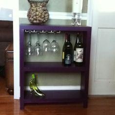 Wine shelf built by a friend