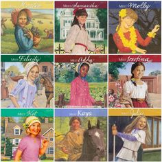 The American Girl series, Samantha, Kit, Kaya, and Josefina were my favorite :)