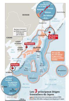 Une carte pour comprendre le conflit des ïles Senkaku Source : Carte publiée par le journal Le Figaro Tokyo, Taiwan, Politics, Figaro, World, Journal, Image, Maps, Flags