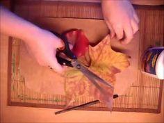 Decoración con hojas de otoño