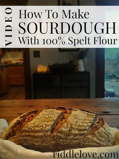 riddlelove: VIDEO: How to Make a Rustic Sourdough Bread Loaf with Organic S. - riddlelove: VIDEO: How to Make a Rustic Sourdough Bread Loaf with Organic Spelt Spelt Recipes, Sourdough Recipes, Fodmap Recipes, Bread Recipes, Real Food Recipes, Cooking Recipes, Flour Recipes, Whole Grain Sourdough Bread Recipe, Savoury Recipes