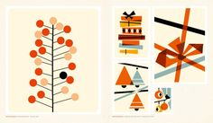 Mid-Century Modern Holiday Graphics - from the book, Naive Modern Christmas, Retro Christmas, Christmas Design, Christmas Time, Christmas Ideas, Naive, Mid-century Modern, Contemporary, Graphic Art