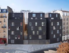 Image 1 of 24 from gallery of Student Residence in Paris / LAN Architecture. Photograph by lan architecture Lan Architecture, Architecture Images, Contemporary Architecture, Architecture Parisienne, Student House, Urban Fabric, Social Housing, Planer, Paris France