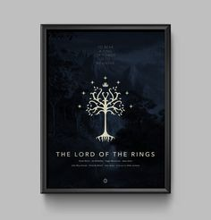 Lord of the Rings Screen Print 18x24 Movie Poster  by joneallen