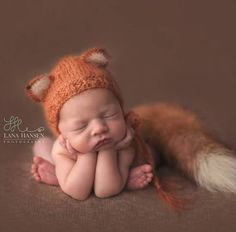 Knit Fox SetNewborn Fox HatLuxurious Mohair Baby by martenitza Cute Newborn Baby Boy, So Cute Baby, Newborn Care, Foto Newborn, Newborn Photo Props, Newborn Photography Poses, Newborn Baby Photography, Cute Baby Pictures, Fall Newborn Pictures