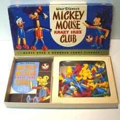 Vintage 1955 Walt Disney's Mickey Mouse Club Krazy Ikes by VintageCreekside, $58.00 Walt Disney Mickey Mouse, Mickey Mouse Club, Disney Toys, Minnie Mouse, Vintage Cards, Vintage Toys, Etsy Vintage, Baby Boomer, Creative Play