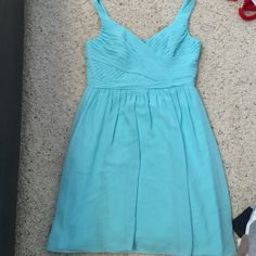 Teal dress Real dress purchased from David's Bridal and worn once, size 12 David's Bridal Dresses