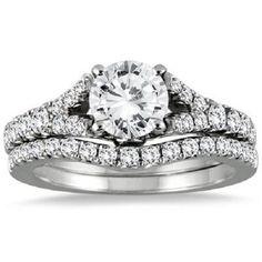 1 3/4 ct  ROUND CUT D/VVS1 DIAMOND SOLITAIRE ENGAGEMENT RING 14K WHITE GOLD #Jewelsbyeanda