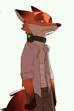 """Nick said something about thees collars on """"Zootopia night terrors"""" (by Rick Griffin) Zootopia Fanart, Zootopia Comic, Arte Furry, Furry Art, Disney Fan Art, Fox Character, Character Design, Nick E Judy, Disney And Dreamworks"""