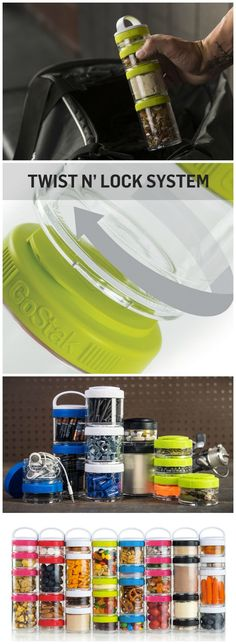 Keep all your daily snacks organized and at hand by storing them inside these stackable GoStak Twist n' Lock Storage Jars. #affiliate #storage