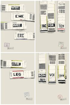 alicemckee:    Ogilvy's new campaign for Expedia makes great use of airport luggage tags. Such a simple idea but one that is quirky and refreshing, that makes you really appreciate clever advertising.