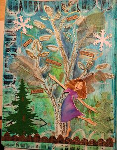 IMG_3668 by jessica.sporn, via Flickr Journal 3, Smash Book, Book Of Life, True Colors, Collage Art, Stencils, Mixed Media, Scrapbook, Art Journals