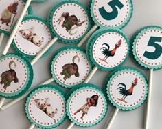 Decoraciones para fiestas Moana Moana Cupcake por ALTCustomDesigns