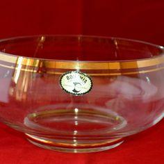 Crystalex Gold Gilded bowl SALE! reduced price on La Boheme!