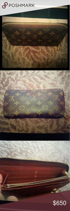 LOUIS VUITTON MONOGRAM VERTICAL ZIPPY WALLET Louis VUITTON MONOGRAM VERTICAL ZIPPY WALLET great condition gently used was in my drawer forever ✉ 8 in w 41/4 inch  height Louis Vuitton Bags Wallets
