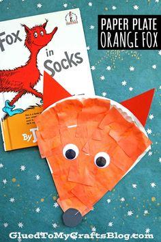 Dr Seuss Art, Dr Seuss Crafts, Fox Crafts, Dr Suess, Fox Craft Preschool, Kindergarten Crafts, Classroom Crafts, Preschool Art Projects, Forest Animal Crafts