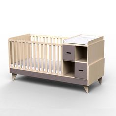 Baby cot, natural, wood, made in Italy