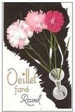 VINTAGE PERFUME FRENCH LABEL - RAVEL ´´ OILET FANE' ´´
