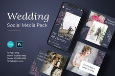 Wedding Social Media Pack by Graphicado on @creativemarket Social Media Template, Social Media Design, Heart Songs, Style Patterns, Floral Patterns, Business Flyer Templates, So Much Love, Wedding Portraits, Pattern Fashion