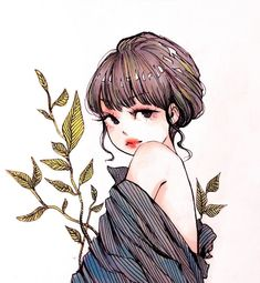Image about girl in Anime & illustration l G I R L S [Colorful] ★ by sнσσđч ★ Kpop Drawings, Art Drawings, Aesthetic Art, Aesthetic Anime, Desenhos Love, Beautiful Fantasy Art, Human Art, Manga Drawing, Anime Art Girl