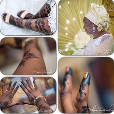 Stunning Images of Traditional Kenyan and Nigerian Bridal Henna Tattoos