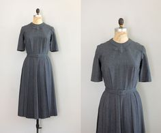 50s dress / gabardine 1950s dress / Citadel dress. $88.00, via Etsy.