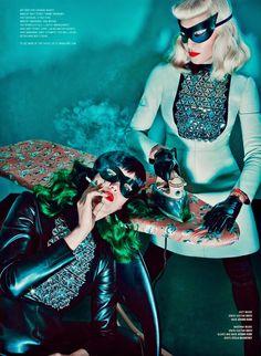 madonna ironing katy perry's hair, v magazine 2014