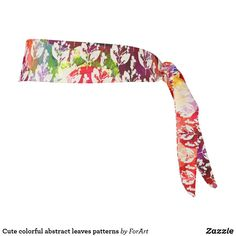 Cute colorful abstract leaves patterns tie headband Train Like A Beast, Sweat Out, Tie Headband, All Print, Party Hats, Your Hair, Art Pieces, Leaves, Colorful