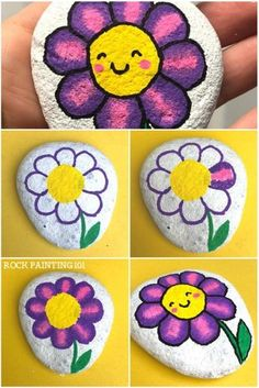 Happy Flower Rocks ~ An easy flower painting idea &; Rock Painting 101 Happy Flower Rocks ~ An easy flower painting idea &; Rock Painting 101 Kerstin Leest sanfritzi Stones These happy flower […] painting flowers Pebble Painting, Pebble Art, Stone Painting, Painting Art, Painting Tips, Easy Flower Painting, Rock Painting Ideas Easy, Rock Painting Ideas For Kids, Rock Painting Patterns