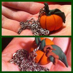 #new #jewelry #pumpkins #polymerclay #clay #fun #creativity #kreativitet #gresskar #autumn #silver #chain