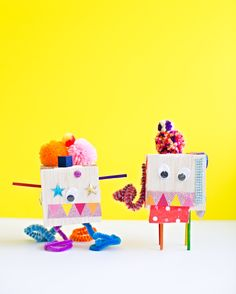 Kid Made DIY Quirky Tinker Toy Creatures