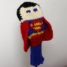 Knit PATTERN Superman Golf Club Cover PDF