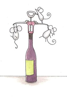 Mice With Wine by Christy Beckwith