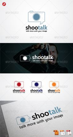 Shootalk   Logo Template #mark #diaphragm #bubble • Download ➝ https://graphicriver.net/item/shootalk-logo/3666375?ref=pxcr