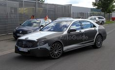 Mercedes S-Class AMG Spied with Sparse Camo. For more, click http://www.autoguide.com/auto-news/2012/06/mercedes-s-class-amg-spied-with-sparse-camo.html