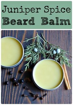 Learn how to make your own juniper spice beard balm! This homemade beard balm recipe is easy to make and uses foraged juniper and dried herbs and spices. Juniper Berry Essential Oil, Essential Oils, Homemade Coconut Oil, Infused Oils, Great Beards, Beard Balm, Homemade Beauty Products, Natural Products, Drying Herbs
